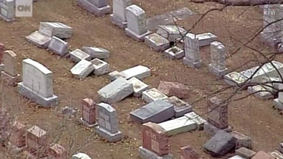 Image result for pictures jewish cemetery desecration